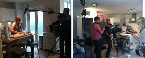 Filming at Kitchen